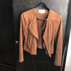 Light weight and suede brown jacket